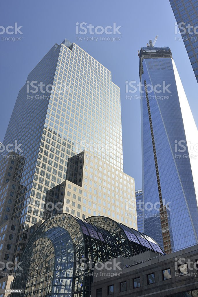 Skyscrapers at World Financial Center royalty-free stock photo
