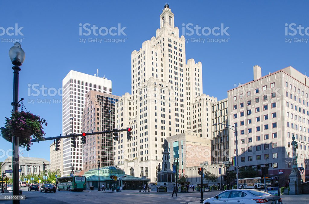 Skyscrapers downtown Providence, Rhode Island stock photo