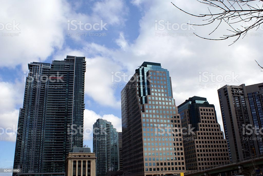 skyscrapers, Downtown Toronto City Canada stock photo