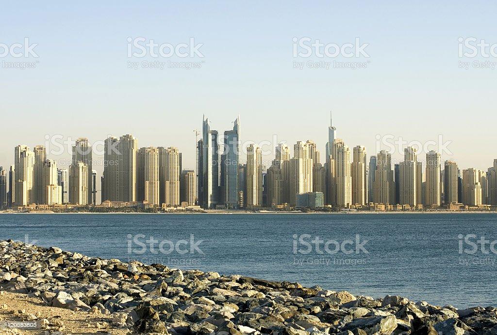 Skyscrapers, Dubai, United Arab Emirates stock photo