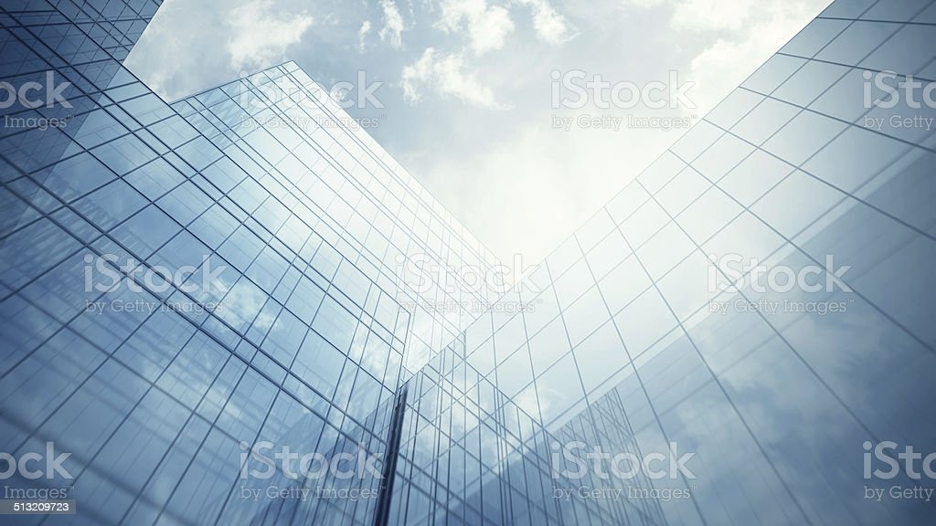 Skyscraper's exterior stock photo
