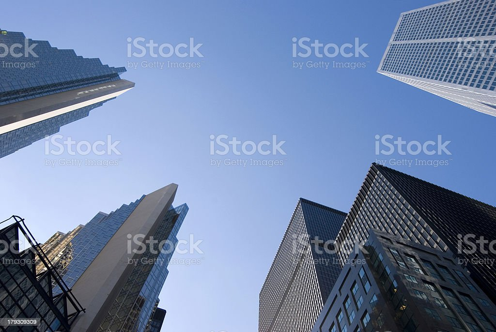 Skyscrapers from Below royalty-free stock photo