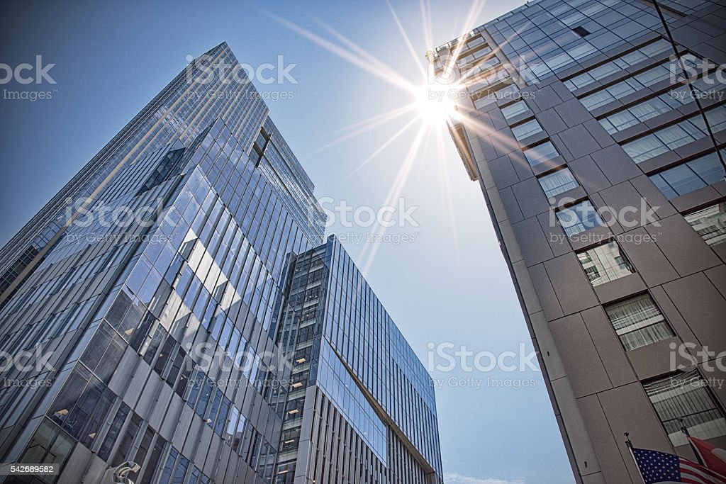 Skyscrapers From Below stock photo