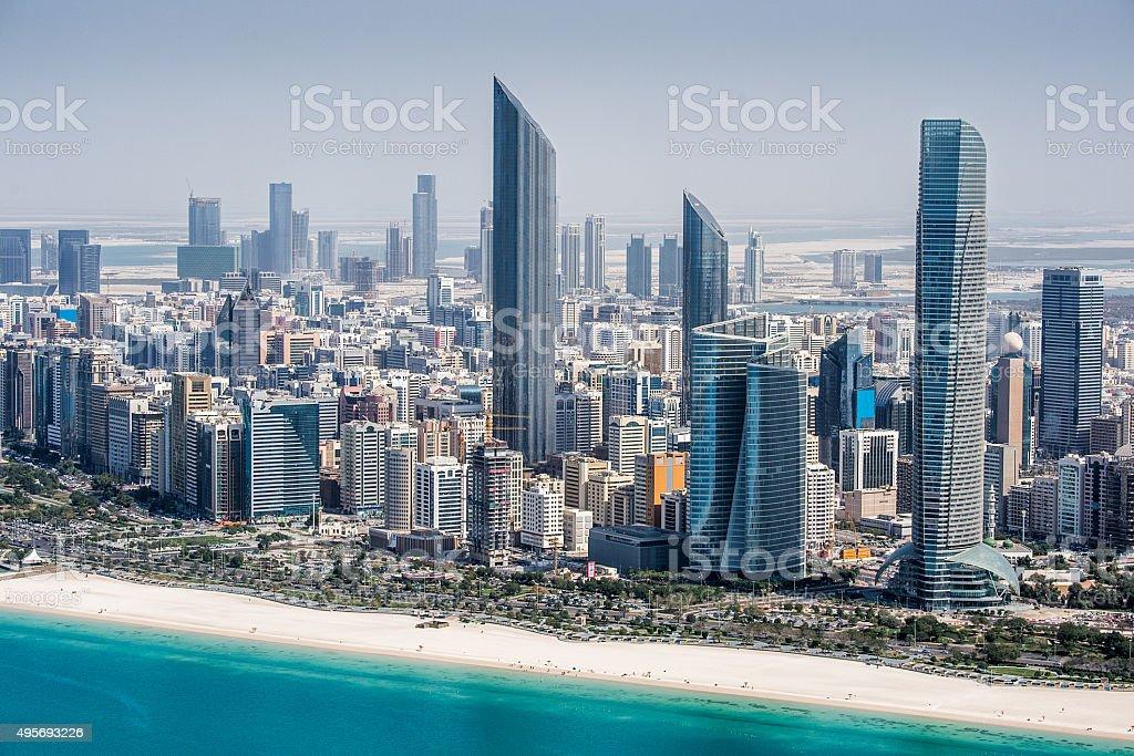 Skyscrapers in Abu Dhabi stock photo