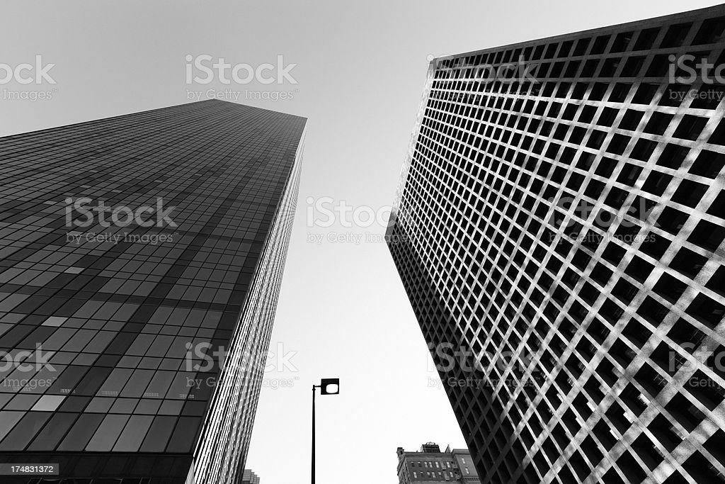 Skyscrapers in Black and White royalty-free stock photo