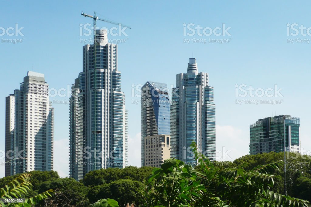 Skyscrapers in Buenos Aires stock photo