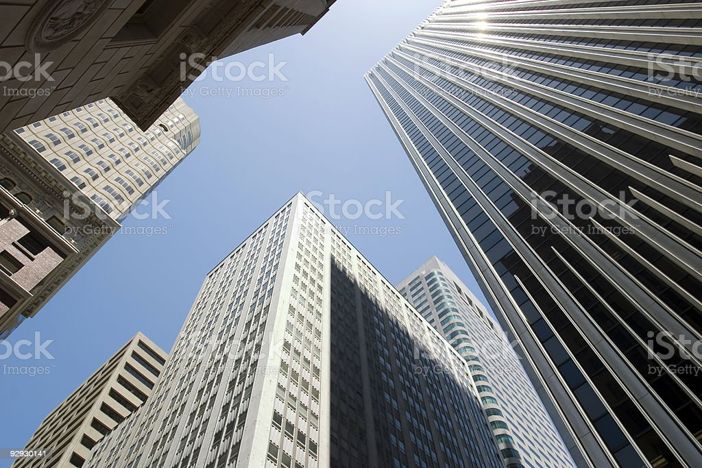 Skyscrapers in Downtown San Francisco stock photo