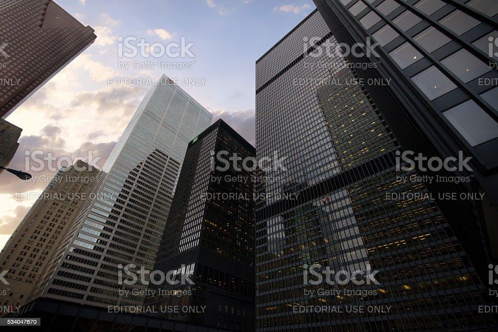 Toronto, Canada - January 27, 2016:  Skyscrapers in Downtown Toro stock photo