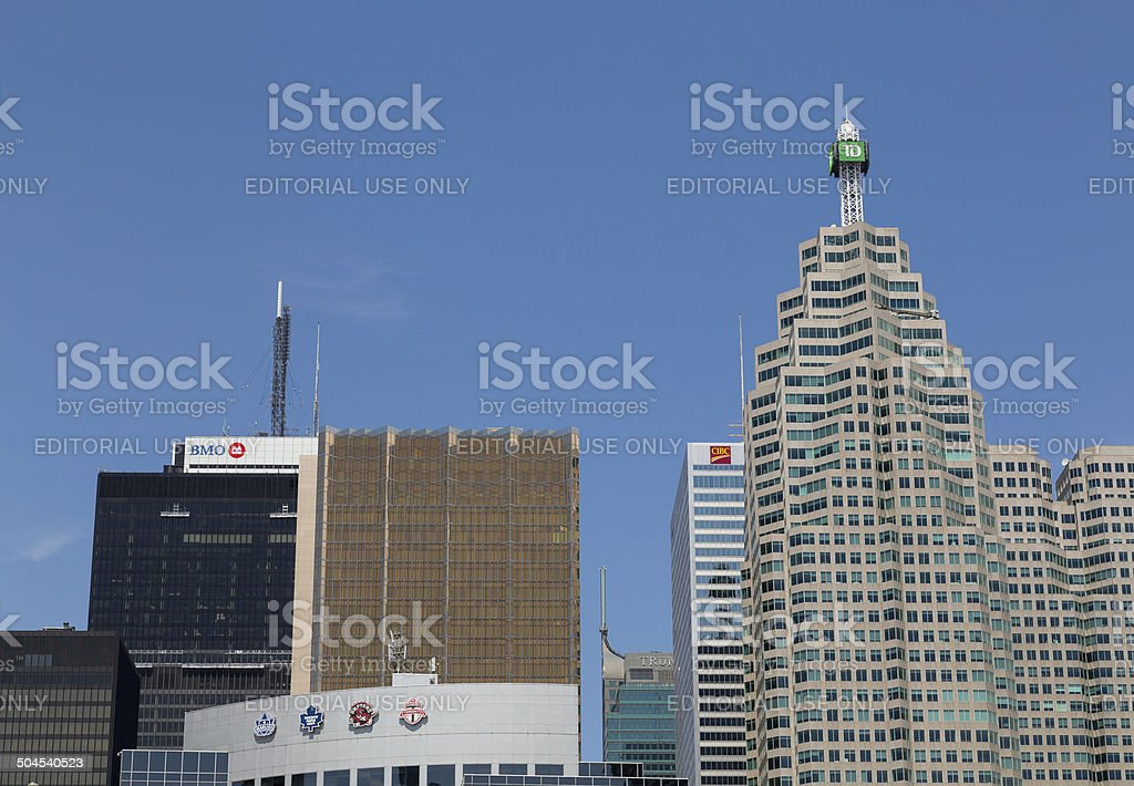 Skyscrapers in Downtown Toronto stock photo