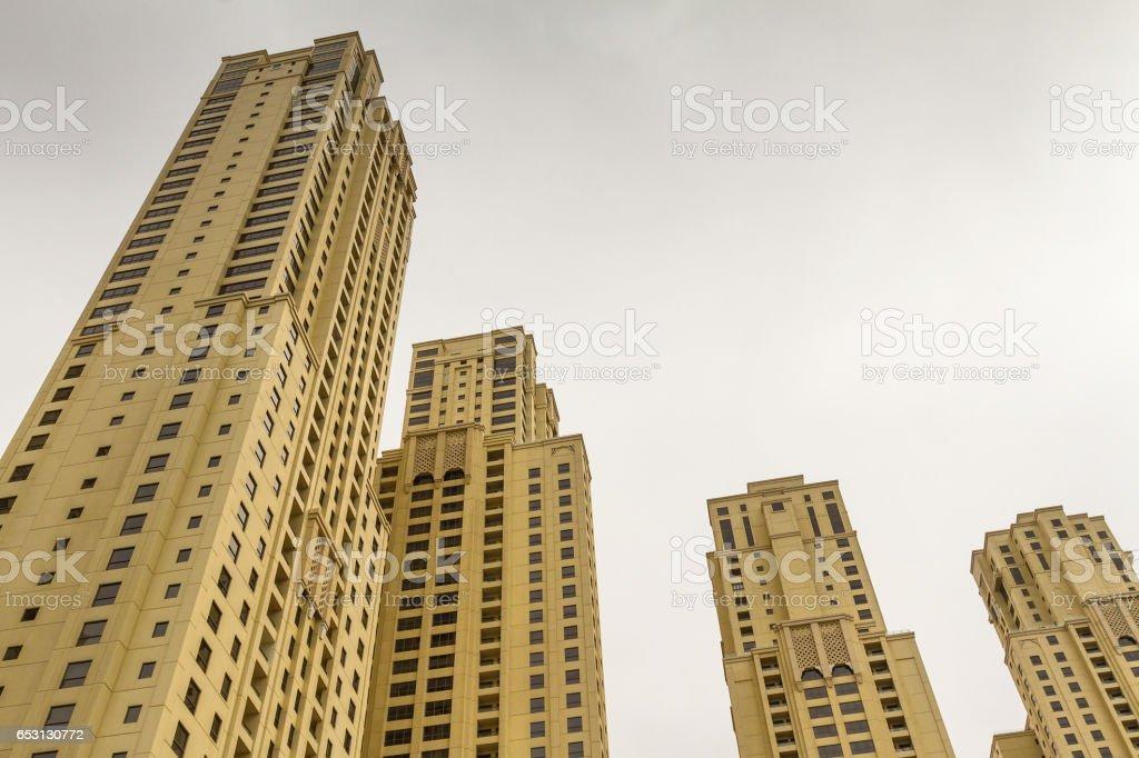 Skyscrapers in Dubai Marina stock photo