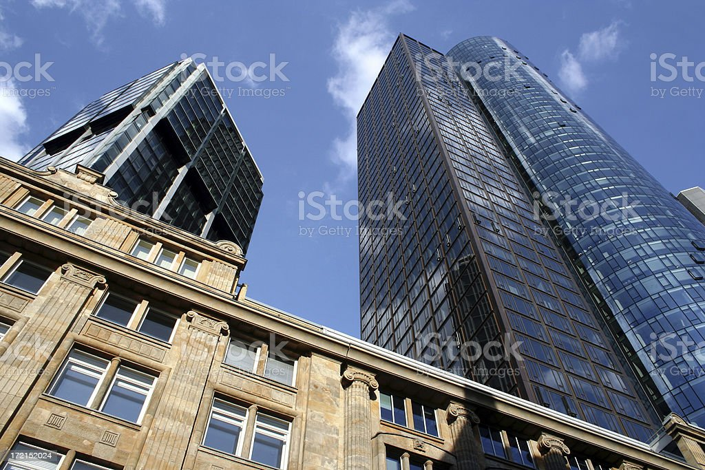 Wolkenkratzer in Frankfurt stock photo