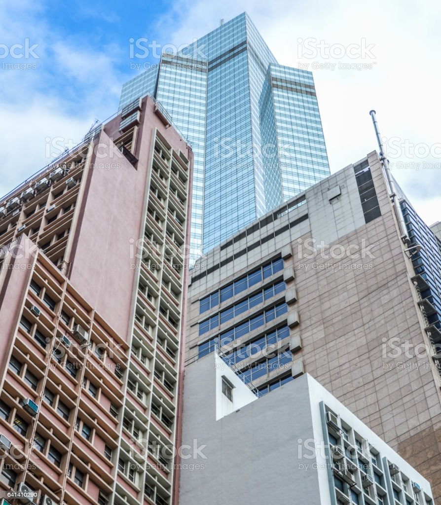 Skyscrapers in Hong Kong stock photo