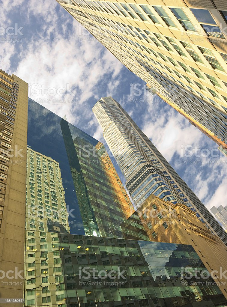 Skyscrapers - in Manhattan, New York, an early morning royalty-free stock photo