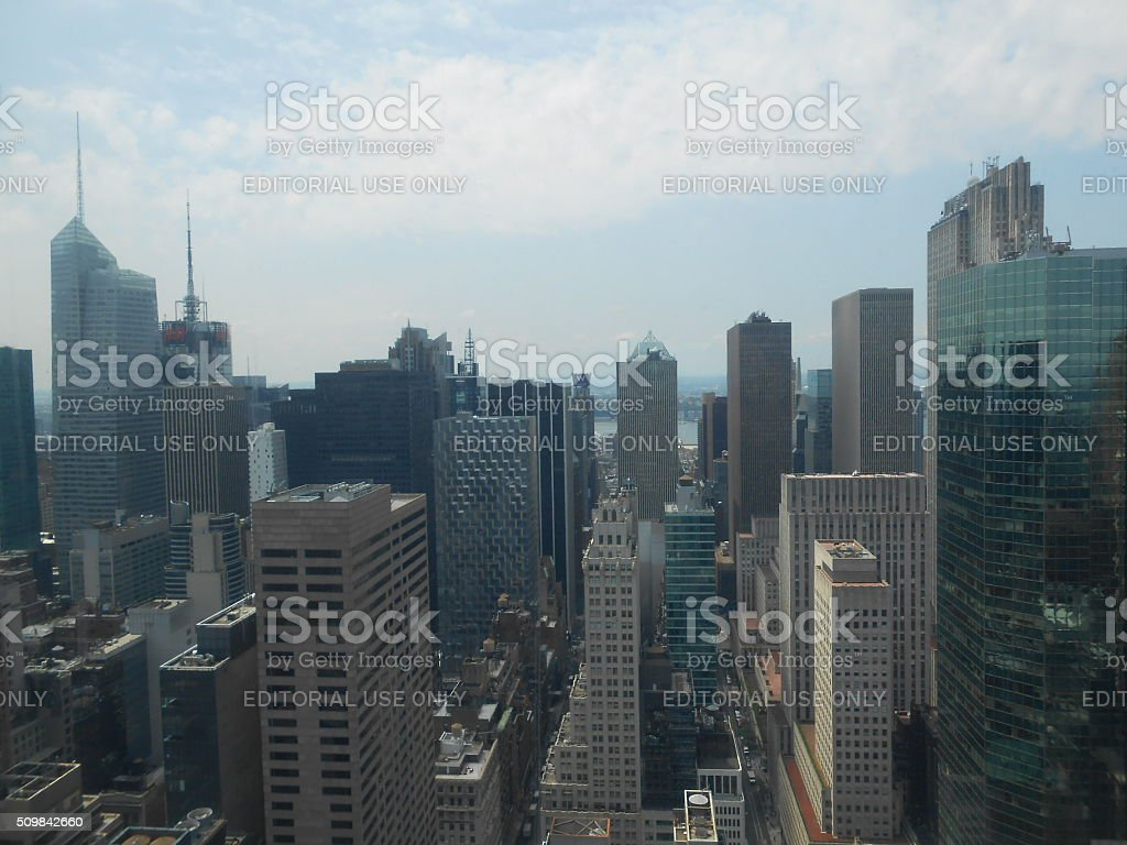 Skyscrapers in Midtown Manhattan, New York, NY. stock photo