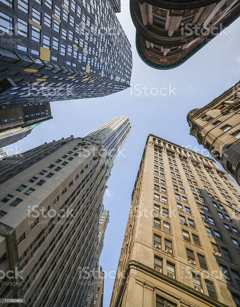 Skyscrapers in New York City, Lower Manhattan, USA royalty-free stock photo