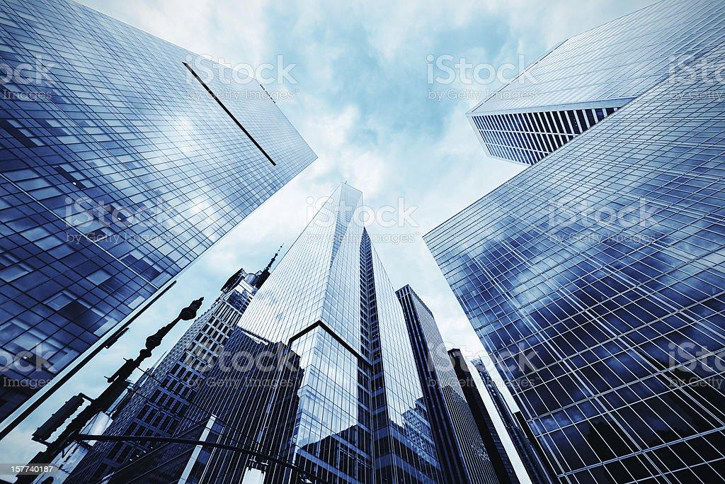 Skyscrapers in New York City, midtown Manhattan, USA royalty-free stock photo