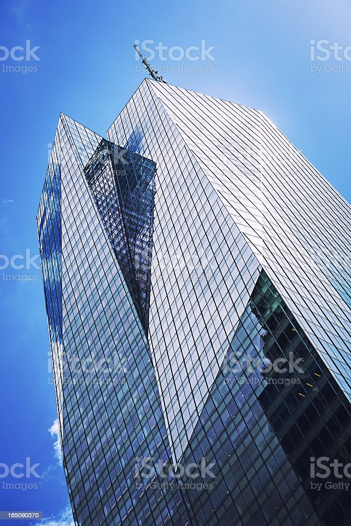 Skyscrapers in New York City, midtown Manhattan, USA stock photo