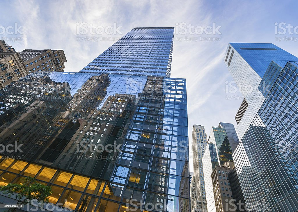 Skyscrapers in New York City, Midtown Manhattan, USA royalty-free stock photo