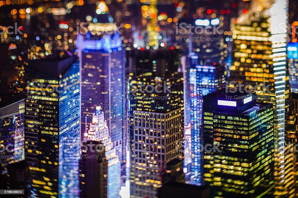 Skyscrapers in New York City, Midtown Manhattan, USA stock photo