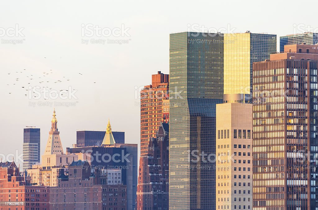 skyscrapers in New York royalty-free stock photo