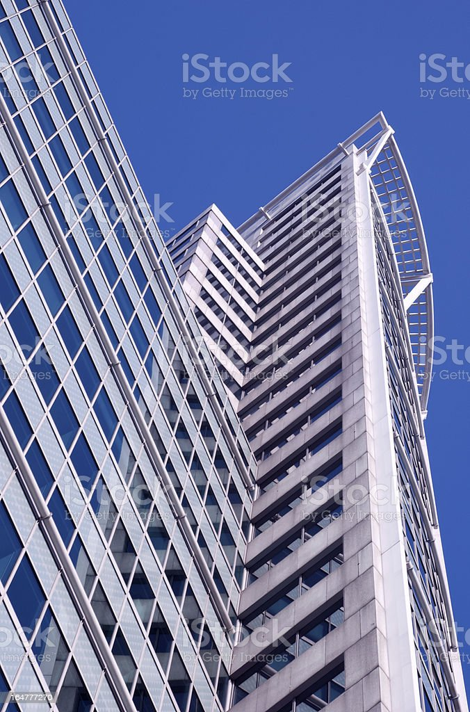 Skyscrapers in Rotterdam royalty-free stock photo