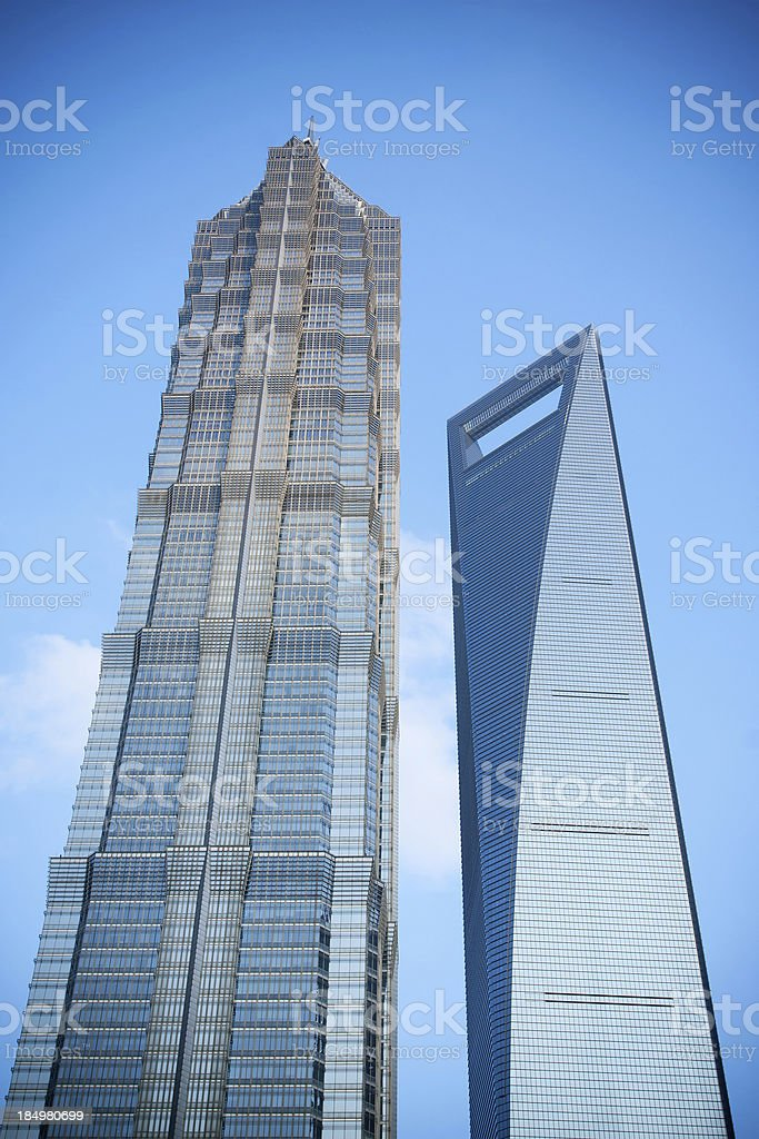 Skyscrapers in Shanghai royalty-free stock photo