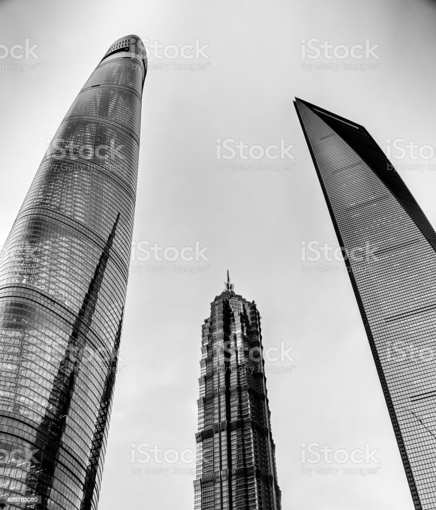 Skyscrapers in Shanghai stock photo