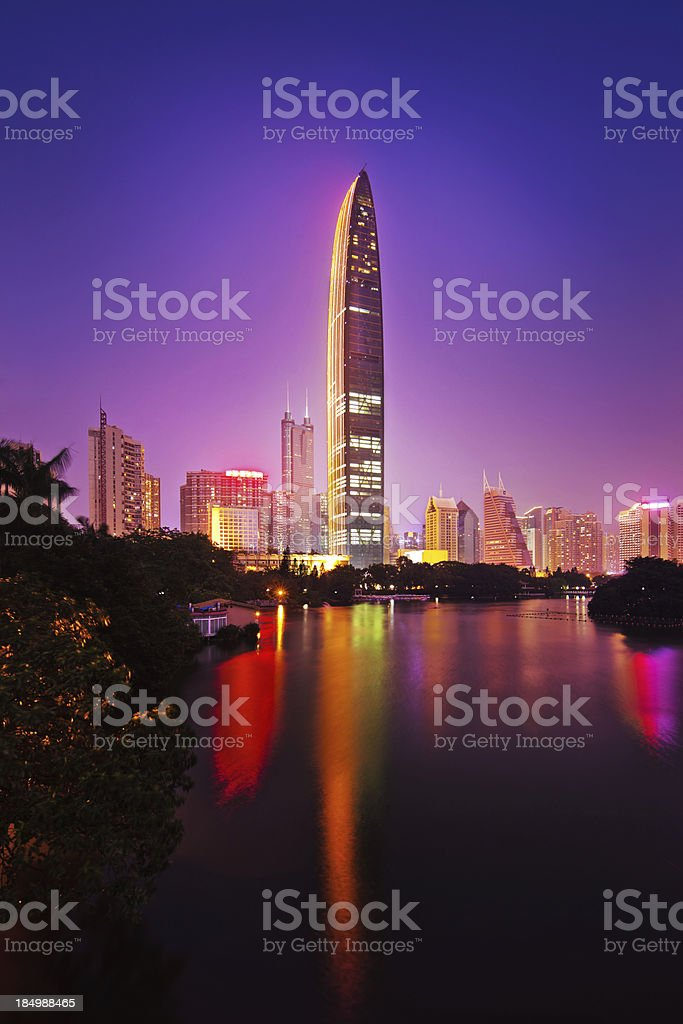 Skyscrapers in Shenzhen, China royalty-free stock photo