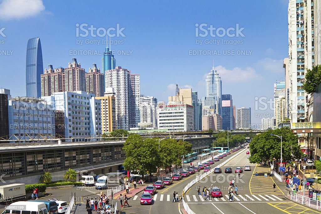 Skyscrapers in Shenzhen, China stock photo