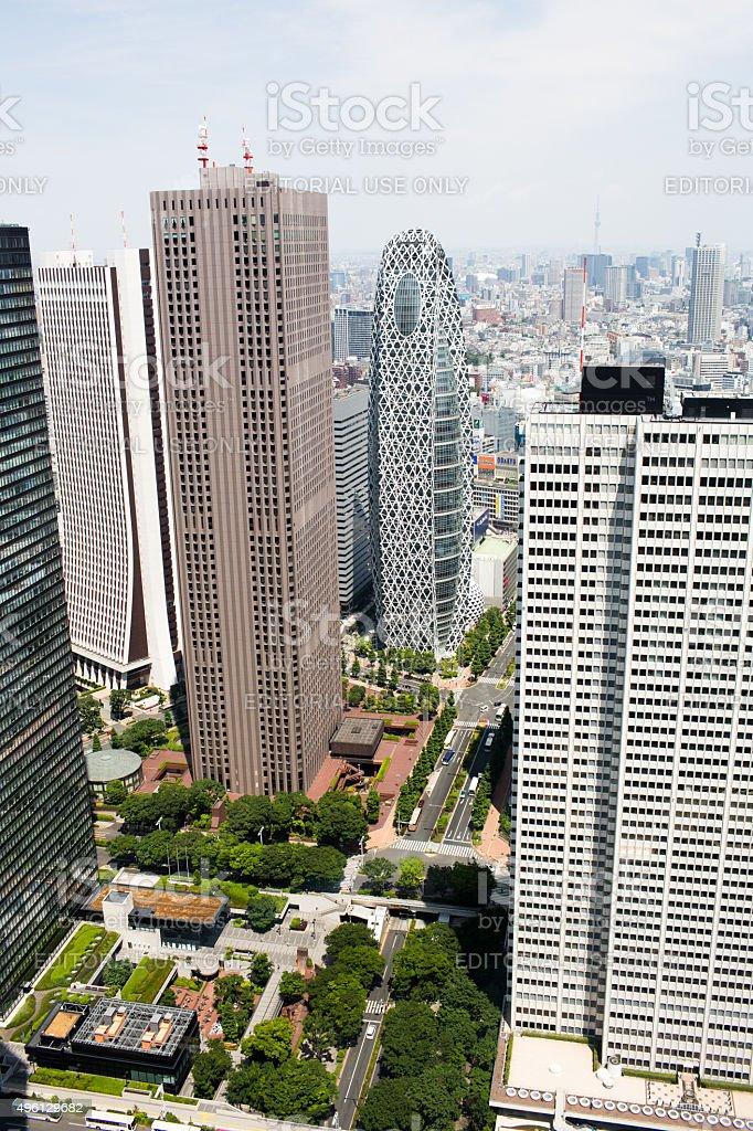 Skyscrapers in Sinjuku, Tokyo stock photo