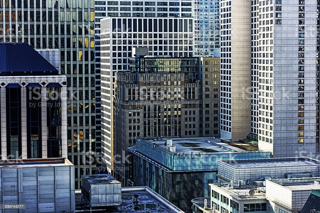Skyscrapers in Streeterville, Chicago stock photo