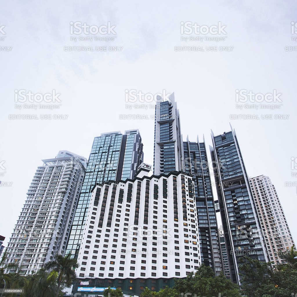 Skyscrapers in the city centre. royalty-free stock photo