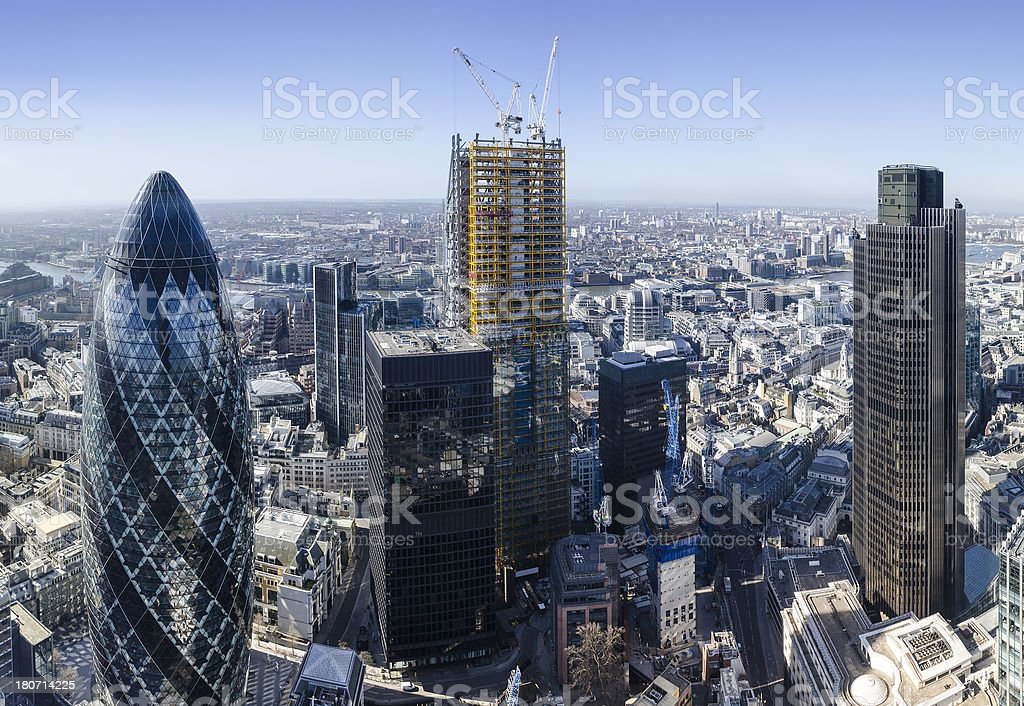 Skyscrapers in the City of London royalty-free stock photo
