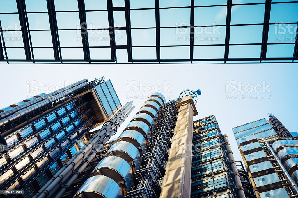 Skyscrapers in the City of London. stock photo
