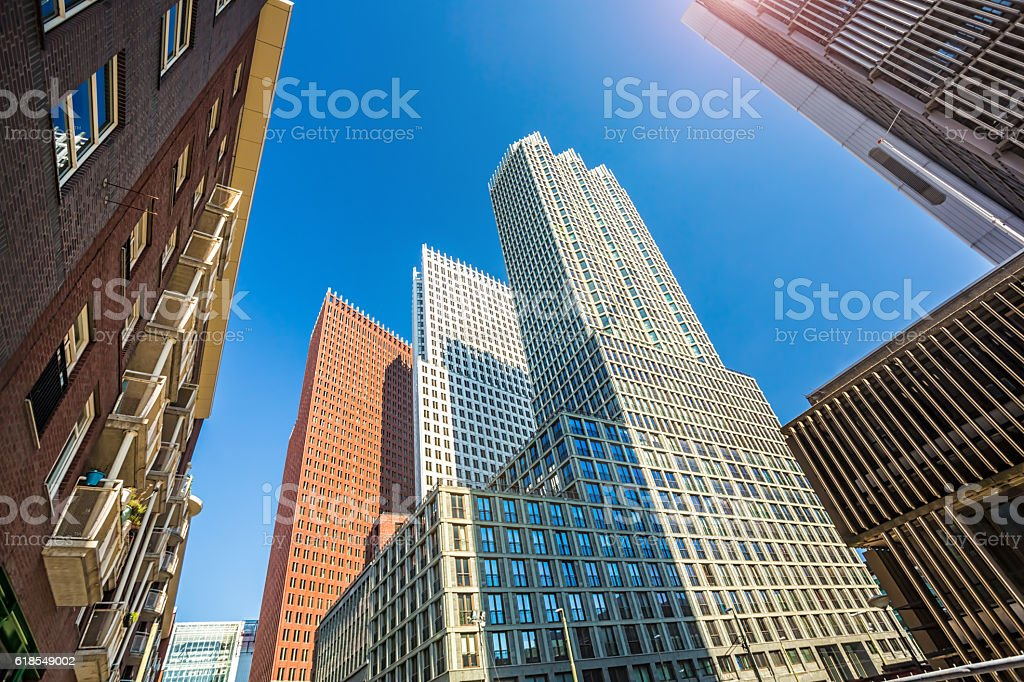 Skyscrapers in the Hague stock photo