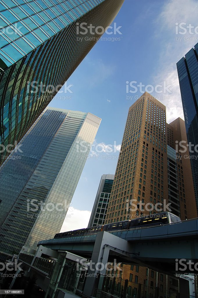 Skyscrapers & Monorail royalty-free stock photo