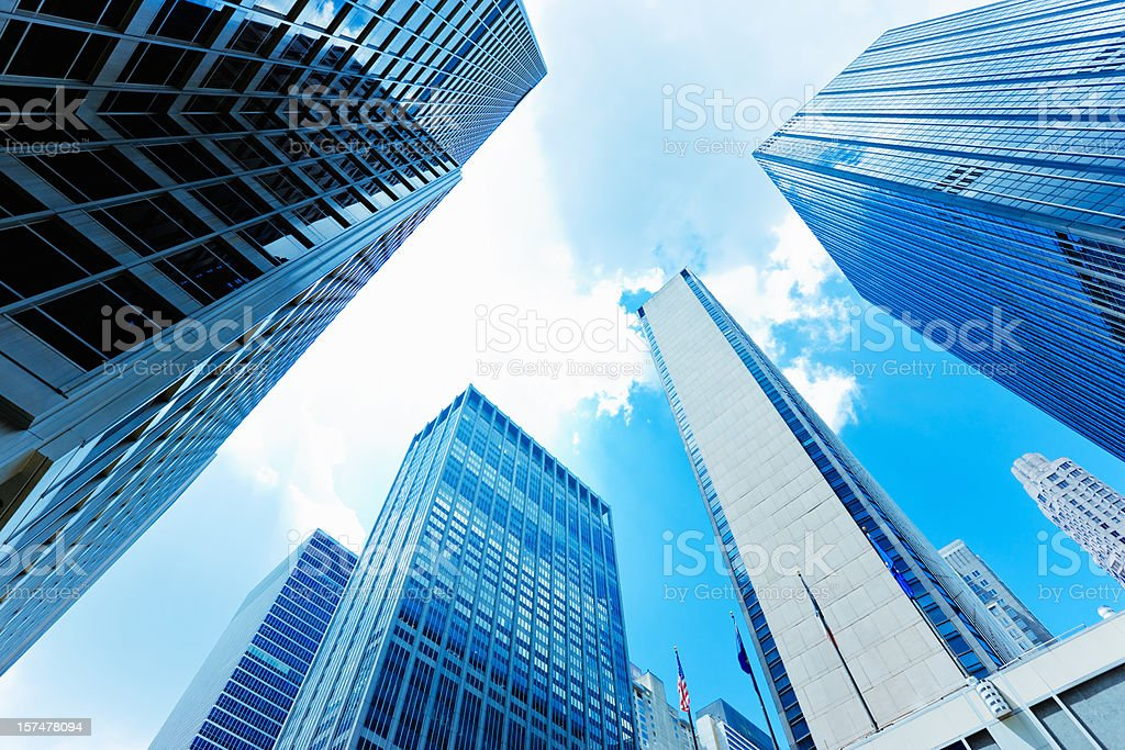Skyscrapers New York City royalty-free stock photo