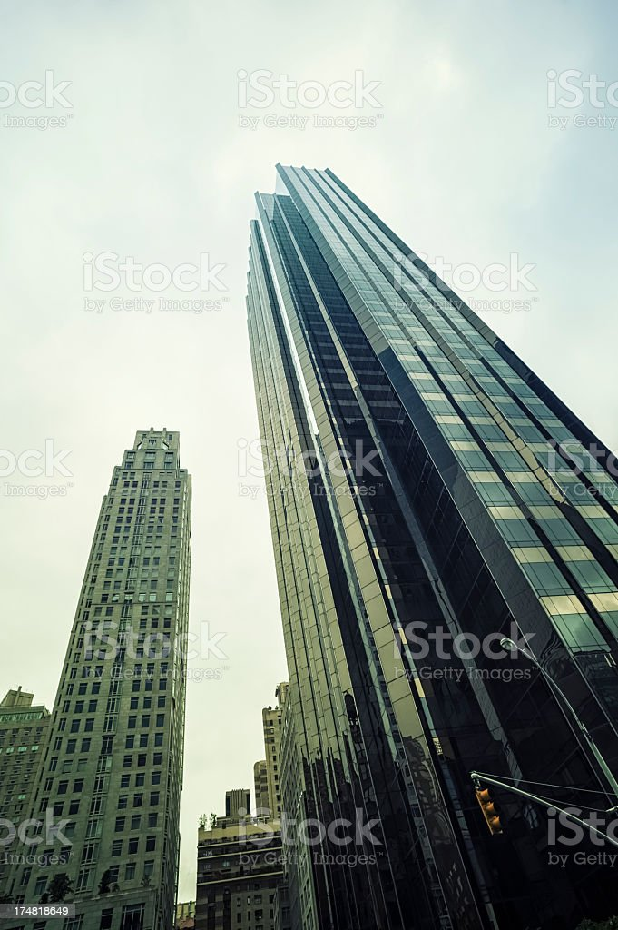 Skyscrapers - New York City royalty-free stock photo