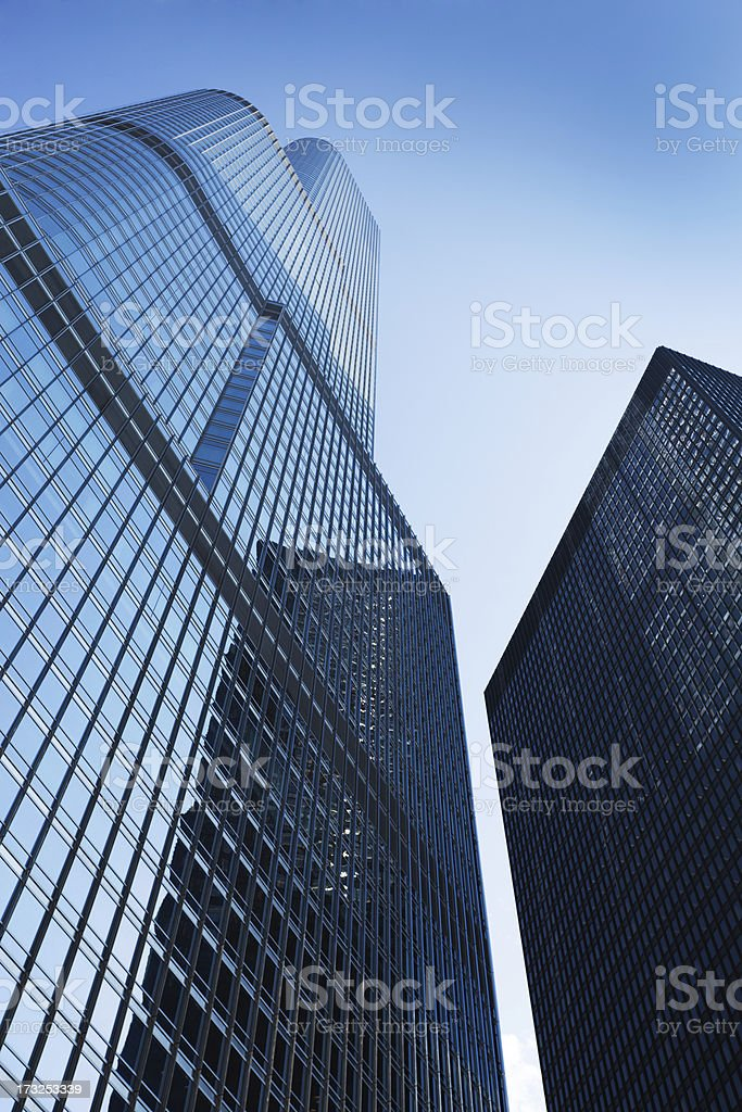 Skyscrapers of Chicago Downtown District stock photo