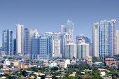 Skyscrapers of Fort Bonifacio, Manila, Phillipines