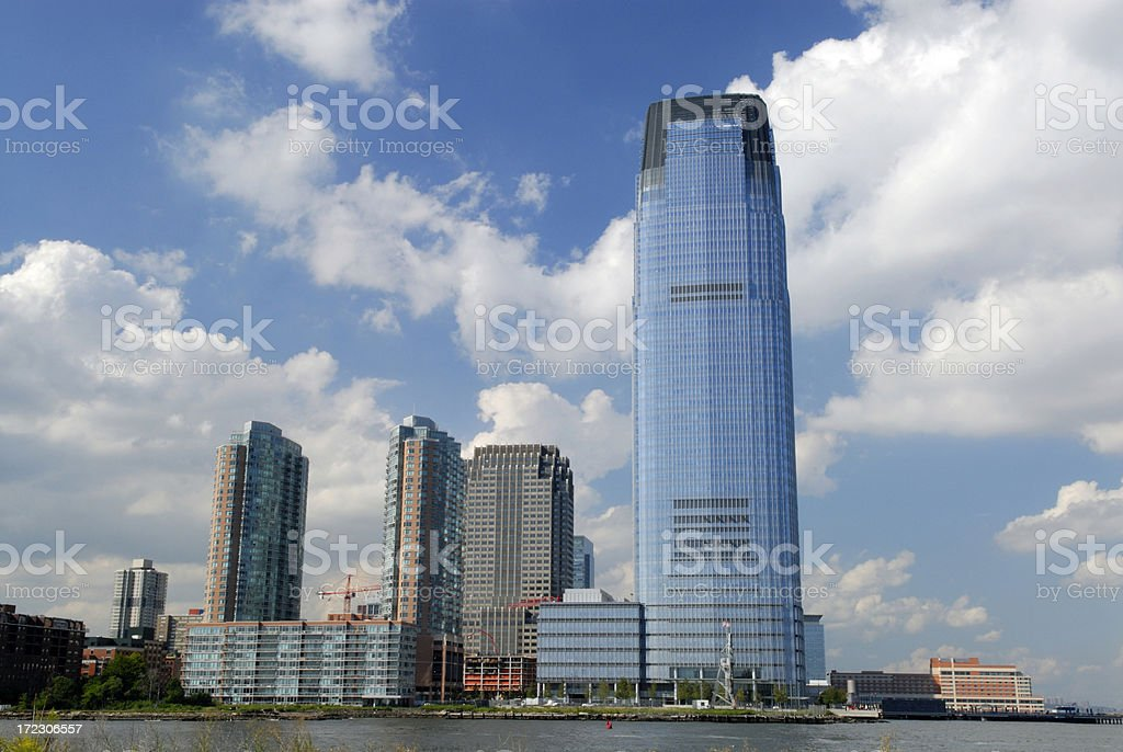 Skyscrapers of Jersey City stock photo