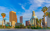Skyscrapers of Los Angeles skyline,CA