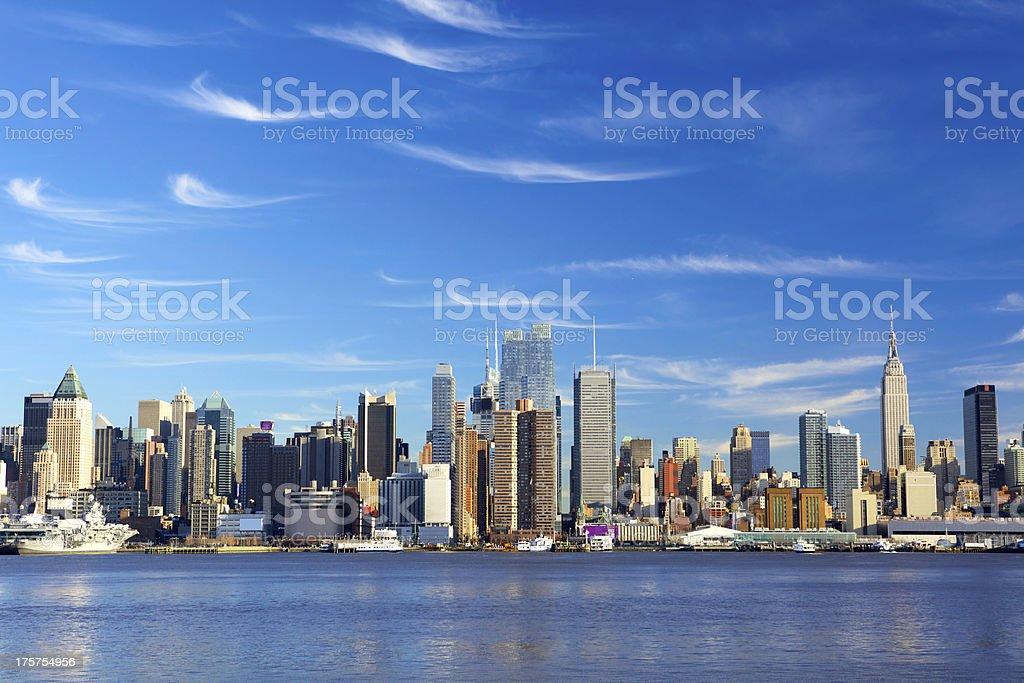 Skyscrapers of Manhattan royalty-free stock photo