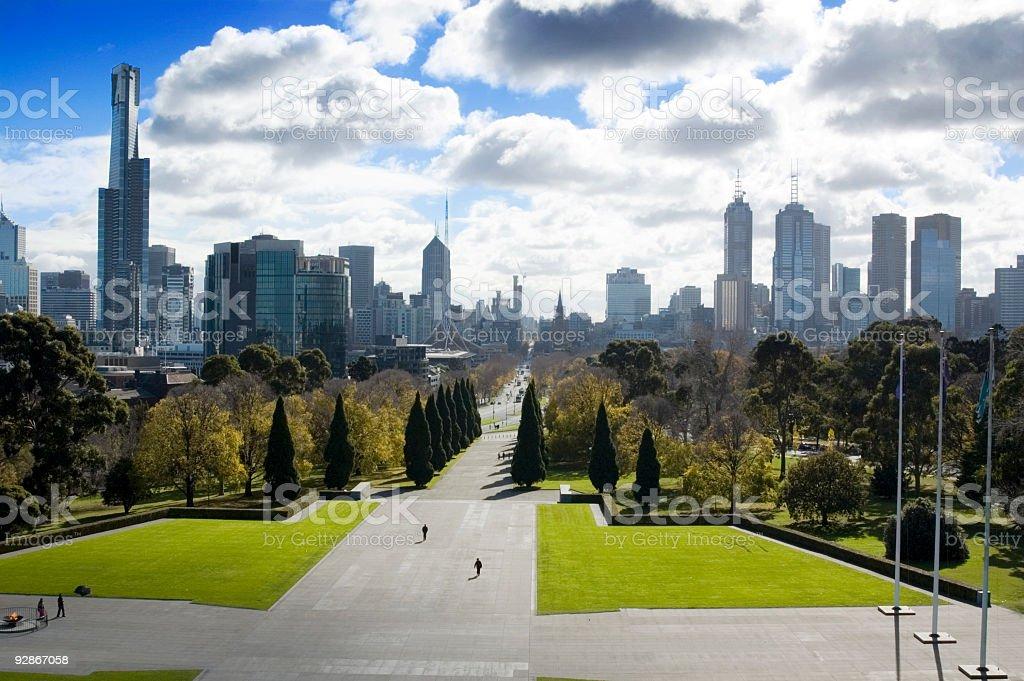 Skyscrapers of Melbourne, Australia stock photo