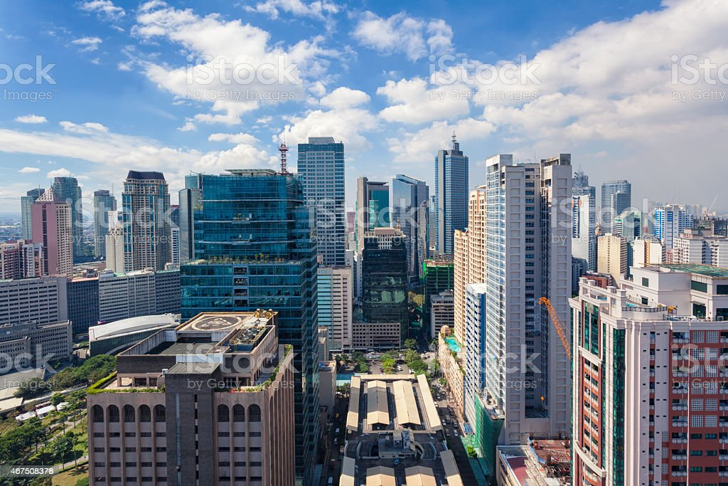 Skyscrapers of Metro Manila, Philippines stock photo
