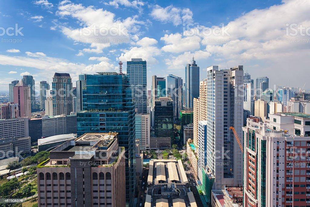 Skyscrapers of Metro Manila, Philippines stock photo