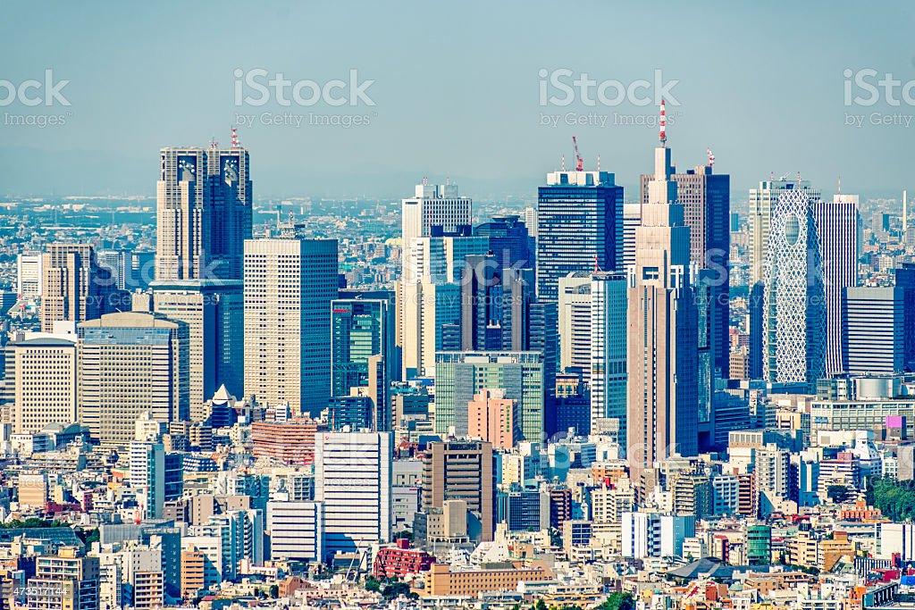 Skyscrapers of Shinjuku, Tokyo stock photo