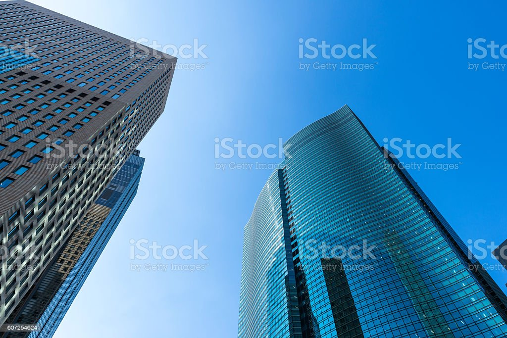 Skyscrapers of Shiodome stock photo