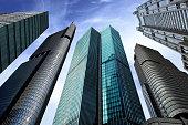 Skyscrapers/ office buidings