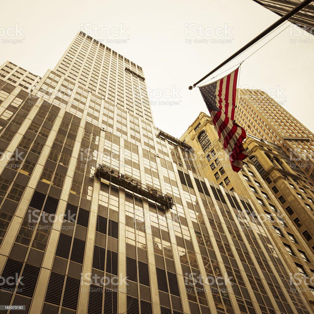 Skyscrapers on Manhattan royalty-free stock photo